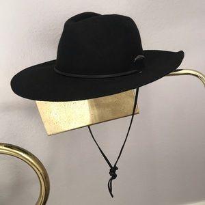 Brixton Black Felt Hat Size 7 (small)
